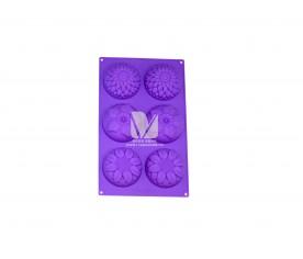6朵花蛋糕硅胶制品